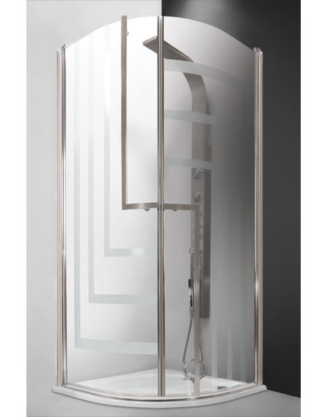 Tower Line TR2 Design+ Профиль brillant/стекло printДушевые ограждения<br>Душевой уголок Roltechnik Tower Line TR2 Design+ с 2-мя распашными дверьми. Открывание дверей как внутрь, так и наружу. Ширина входа 400 мм. Профиль brillant, полированный алюминий с интегрированным магнитом. Прозрачное безопасное стекло с узором. Толщина стекла 6 мм.<br>