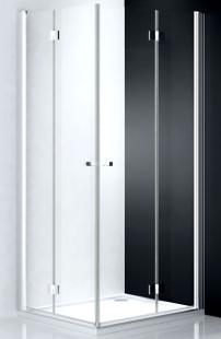 Tower Line TZOL1/900 Профиль brillant/стекло прозрачное PДушевые ограждения<br>Душевая дверь Roltechnik Tower Line  TZOP1/900 c 2-х элементным складным механизмом, основанным на интегрированных петлях. Ширина входа 710 мм. Дверь изготовлена из безопасного 6 мм стекла с покрытием NANOGLASS II. Образует душевой уголок вместе с идентичной дверью TZOL1 (левосторонней) или со стенкой TB.<br>