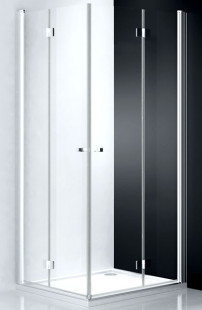 Tower Line TZOL1/1100 Профиль brillant/стекло прозрачное LДушевые ограждения<br>Душевая дверь Roltechnik Tower Line  TZOL1/1100 c 2-х элементным складным механизмом, основанным на интегрированных петлях. Ширина входа 570 мм. Дверь изготовлена из безопасного 6 мм стекла с покрытием NANOGLASS II. Образует душевой уголок вместе с идентичной дверью TZOP1 (правосторонней) или со стенкой TB.<br>