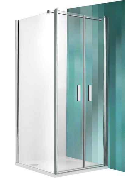 Tower Line TCB/800 Профиль brillant/стекло прозрачноеДушевые ограждени<br>Бокова стенка  Roltechnik Tower Line TCB/800. Толщина стекла 6 мм с покрытием  Nanoglass  II. Ручки и петли интегрированные изготовлены из полированного алмини. Уплотнители высоколастичные герметичные. Стенка может быть установлена с лбой стороны от двери.<br>
