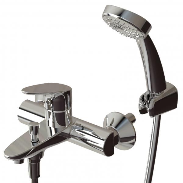 Смеситель для ванны Bravat Drop F64898C-B Хром смеситель для ванны culto drop однорычажный с коротким изливом цвет хром