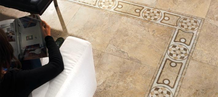 Керамогранит Porcelanite Dos 5000 Roseton Beige 100Х100 панно стоимость