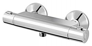 Inspire F5040000  ХромСмесители<br>Смеситель для душа с термостатом AM PM Inspire F5040000. Современный дизайн отлично подойдет для большинства ванных комнат. Жесткая подводка  &amp;#189;, монтаж на стену на 2 отверстия. Материал - латунь, покрытие - хром. Все дополнительные комплектующие приобретаются отдельно.<br>