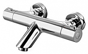 Joy F8550000 ХромСмесители<br>Смеситель для ванны с термостатом AM PM Joy F8550000. Запорный клапан, термостатический картридж. 2 отверстия для монтажа.<br>