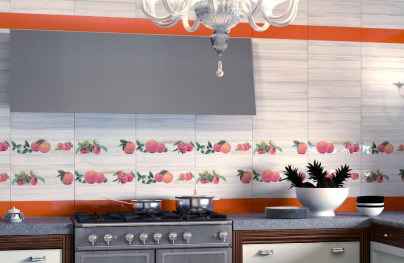 Керамическая плитка Monopole Ceramica Naranjas 2 (To Squeeze) 10х40 декор стоимость