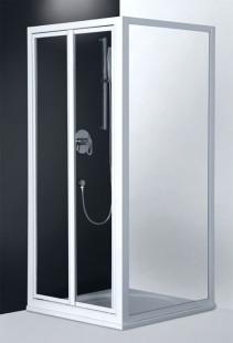 Classic Line CDO2/800 профиль белый/стекло chinchillaДушевые ограждения<br>Двойная распашная душевая дверь Roltechnik Classic Line CDO2/800. Ширина входа 530 мм. Толщина стекла 3 мм.Стенка  безопасное стекло chinchilla (рисунок). Профиль white - белый крашеный алюминий. Стекло Nanoglass 2-го поколения, универсальная обработка керамики и поверхностей стекла, которая препятствует оседанию на них водного камня имеет высокую механическую стойкость не подвержено истиранию. Защелки в цвет профиля магнитные. Уплотнители высокоэластичные герметичные.<br>