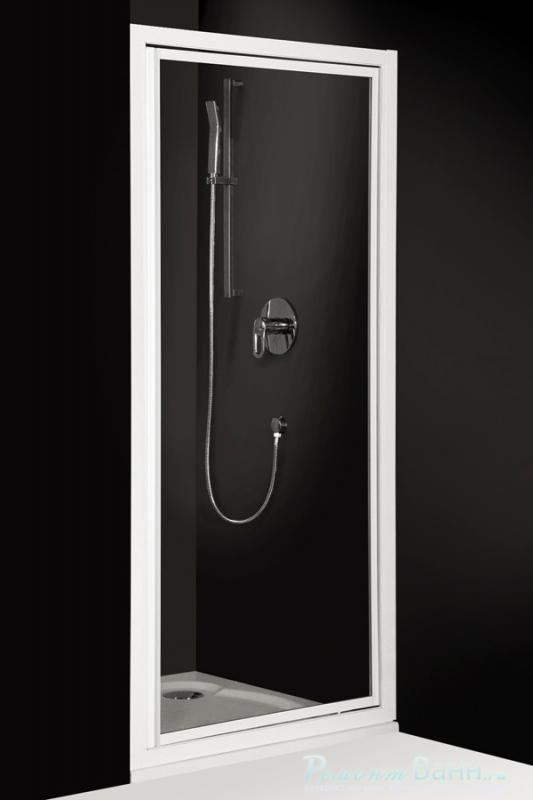 Classic Line CDO1/800 профиль белый/стекло chinchillaДушевые ограждения<br>Душевая дверь Roltechnik Classic Line CDB/800.  Ширина входа 560 мм. Толщина стекла 3 мм. Стенка безопасное стекло chinchilla (рисунок). Профиль white - белый крашеный алюминий. Стекло Nanoglass 2-го поколения, универсальная обработка керамики и поверхностей стекла, которая препятствует оседанию на них водного камня, имеет высокую механическую стойкость не подвержено истиранию. Защелки в цвет профиля магнитные. Уплотнители высокоэластичные герметичные.<br>