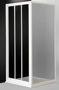 Classic Line PD3N/800 профиль белый/стекло chinchillaДушевые ограждения<br>Раздвижная трехсекционная душевая дверь Roltechnik Classic Line PD3N/800. Ширина входа 375 мм. Толщина стекла 3 мм. Стенка  безопасное стекло chinchilla (рисунок). Профиль white - белый крашеный алюминий.  Стекло Nanoglass 2-го поколения, универсальная обработка керамики и поверхностей стекла, которая препятствует оседанию на них водного камня имеет высокую механическую стойкость не подвержено истиранию. Защелки в цвет профиля магнитные. Уплотнители высокоэластичные герметичные. До душевого уголка дополняется душевой стенкой.<br>
