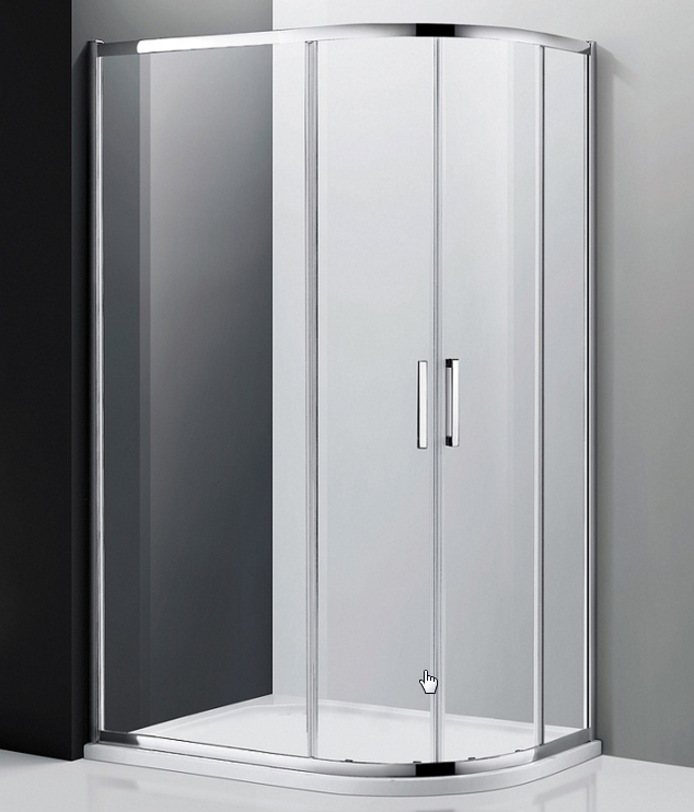 Moderato EF-7070T Профиль хром, стекло прозрачное LДушевые ограждения<br>Душевой уголок 2-х сторонний асимметричный Edelform Moderato EF-7070T L. Душевые двери раздвижные.<br>