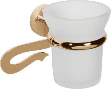 Caprice LUX-CAP-DT133-GLSW золото/swarovskiАксессуары для ванной<br>Стакан для зубных щеток Sturm Caprice LUX-CAP-DT133-GLSW подвесной с кристаллом swarovski.<br>