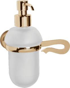 Caprice LUX-CAP-DT333-GLSW золото/swarovskiАксессуары для ванной<br>Дозатор для жидкoгo мыла Sturm Caprice LUX-CAP-DT333-GLSW с кристаллом swarovski.<br>