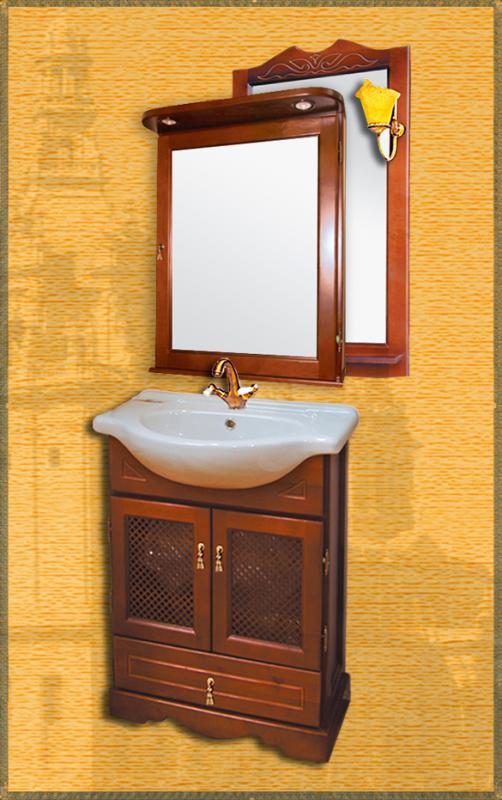 Clio 65 НагалМебель для ванной<br>Мебель для ванной Два Водолея Clio 65. Цвет нагал. В стоимость входит тумба. Все остальное приобретается отдельно.<br>