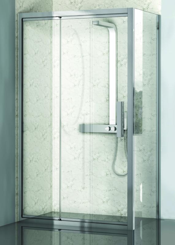 Lybre 900х2000 блестящее серебро/стекло прозрачноеДушевые ограждения<br>Фиксированная боковая стенка Sturm Lybre 900х2000.<br>