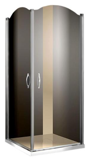 Eleganz 900х900х1950 Хром/стекло прозрачноеДушевые ограждения<br>Душевой уголок Sturm Eleganz LUX-ELEG0909-NTRCR, размер 900х900х1950 мм, квадратный с двумя распашными дверьми. Высота профилей 1950 мм. Общая высота 2050 мм. Толщина стекла: 6 мм.<br>
