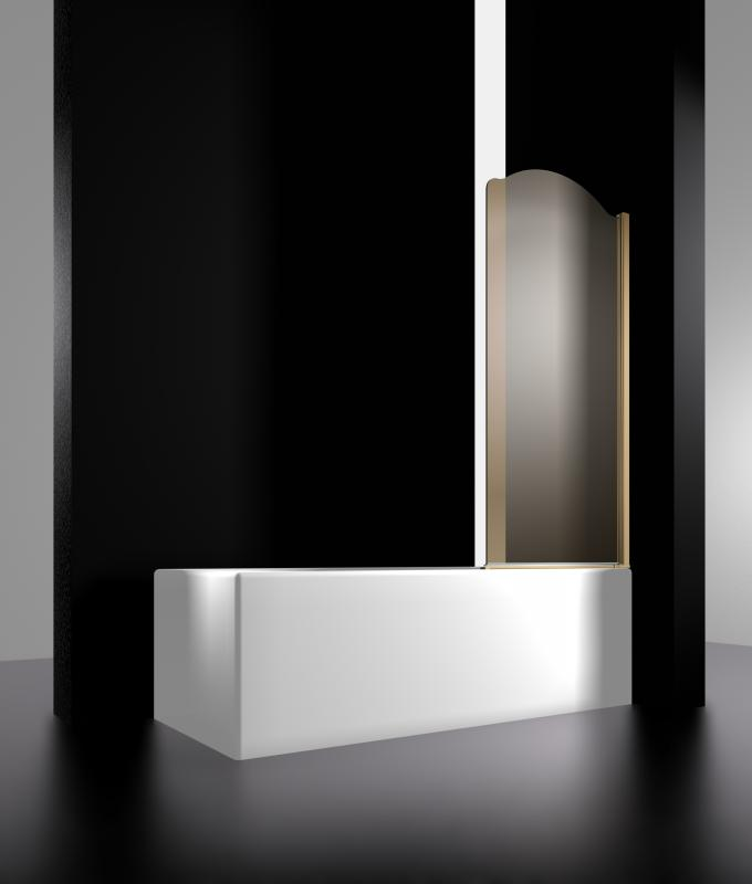 Juwel 800х1500  Профиль золото/стекло тонированное LeftДушевые ограждени<br>Шторка на ванну Sturm Juwel LUX-JUWE08-LTOGL лева, распашна, тонированные стекла. Толщина стекла: 6 мм.<br>