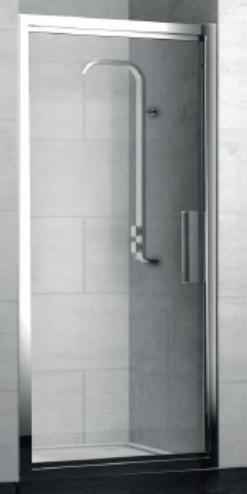 Lybre 1000x2000 профиль scotch brite титан/стекло прозрачноеДушевые ограждения<br>Поворотно-сдвижная дверь в нишу Sturm Lybre LRP6IR09890TR, размер 1000x2000.<br>