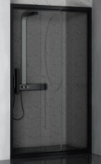Lybre 1400x2000 профиль scotch brite титан/стекло прозрачноеДушевые ограждения<br>Складная дверь в нишу Sturm Lybre LRP2IR13790TR, размер 1400x2000 мм.<br>