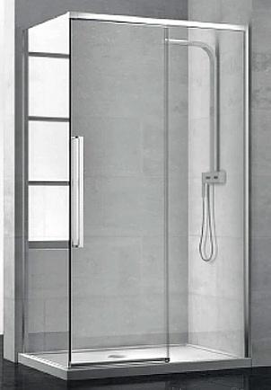 New Generation 1200x2000 профиль scotch brite титан/стекло прозрачное LeftДушевые ограждения<br>Раздвижная дверь Sturm New Generation NGP7IS11890TR левая. Размер 1200x2000 мм.<br>