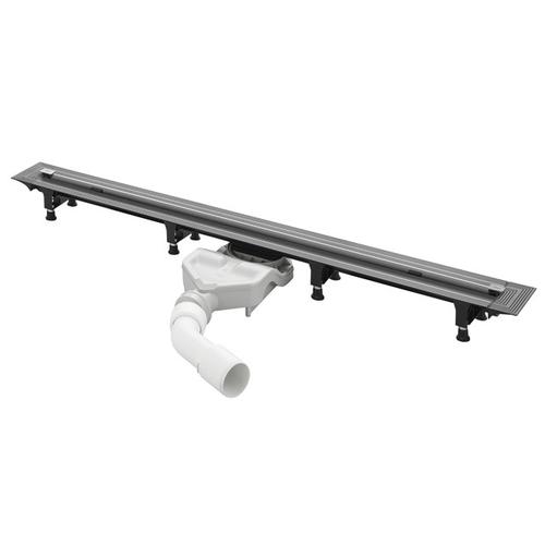 Advantix Vario 721671 ХромДушевые трапы и лотки<br>Душевой трап Viega Advantix Vario 721671 укорачиваемый (300-1200 мм) без дизайн-решетки в комплекте. В комплект входят монтажные опоры, концевые заглушки, самоочищающаяся конструкция сифона, регулируемое по высоте крепление для дизайн-вставки, сетчатый фильтр, фронтальная поверхность для нанесения/закрепления гидроизоляции, набор уплотнений, шаблон для обрезания.<br>