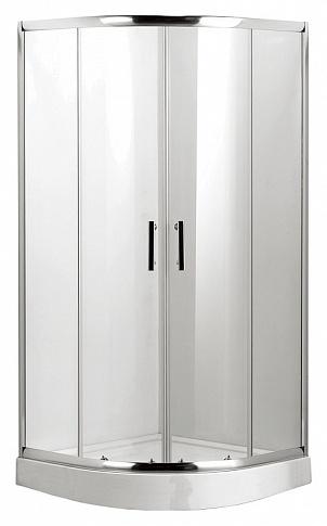 L011 Della Хром/стекло прозрачноеДушевые ограждения<br>Душевой уголок Luxus L011 Della в комплекте с поддоном высотой 150 мм, закаленное стекло 5 мм, раздвижные двери, магнитные уплотнители белого цвета, дверные ручки и профиль ограждения изготовлен из нержавеющей стали с текстурой Brushed, верхние и нижние двойные металлические ролики, гальванизированная рама поддона, съемный экран поддона, сифон с гидрозатвором и гофротрубой 40/50, ловушка для волос.<br>