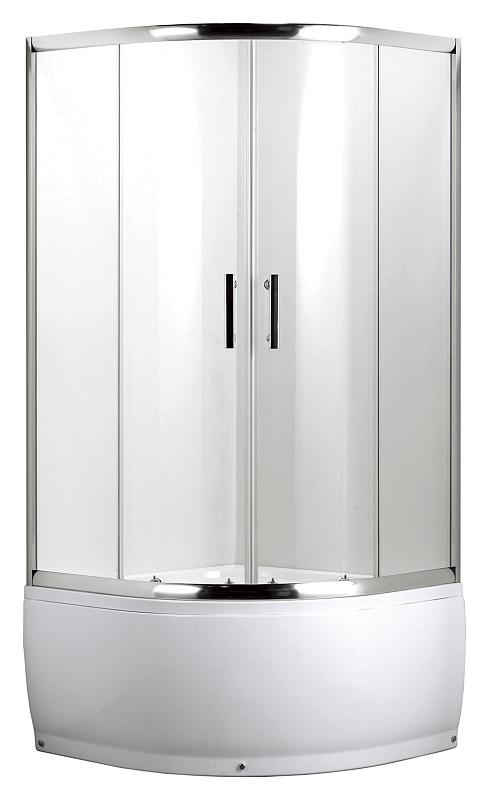 L012 Vetis Хром/стекло прозрачноеДушевые ограждения<br>Душевой уголок Luxus L012 Vetis в комплекте с поддоном высотой 480 мм, закаленное стекло 5 мм, раздвижные двери, магнитные уплотнители белого цвета, дверные ручки и профиль ограждения изготовлен из нержавеющей стали с текстурой Brushed, верхние и нижние двойные металлические ролики, гальванизированная рама поддона, съемный экран поддона, сифон с гидрозатвором, переливом и гофротрубой 40/50, ловушка для волос.<br>