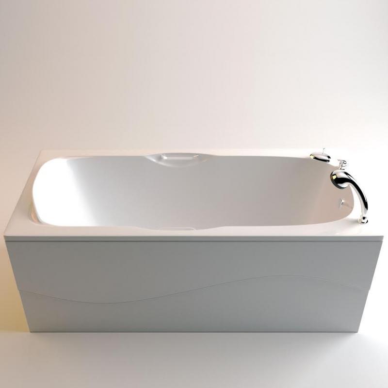 Ванна Фэма Стиль Алассио 160 Белая фронтальная панель фэма стиль алассио 180 белая стеклопластик