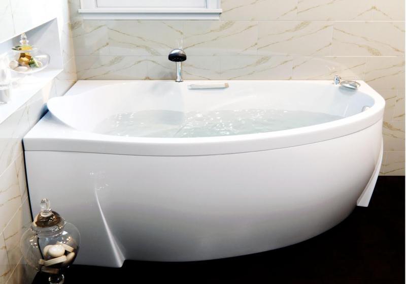 Ванна из искусственного мрамора Фэма Стиль Аделина 170 L Белая фронтальная панель фэма стиль алассио 180 белая стеклопластик