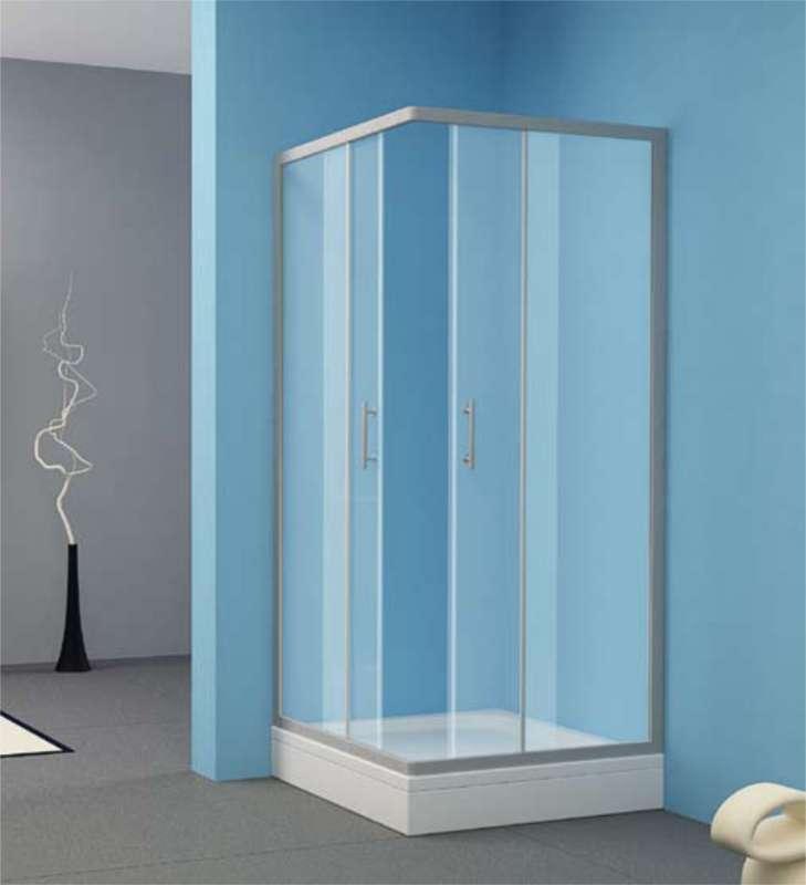 Q line TK 90 Хром/стекло прозрачноеДушевые ограждения<br>Душевая дверь Kolpa San Q line TK 90. Прозрачное закаленное стекло 6 мм. Профиль хромированный. Цена указана только за одну дверь, для душевого уголка необходимо приобрести две двери.<br>