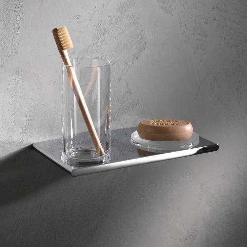 Edition 400 11556 019000 ХромАксессуары для ванной<br>Двойной держатель со стаканом и мыльницей KEUCO Edition 400 11556 019000.Цвет хром.<br>