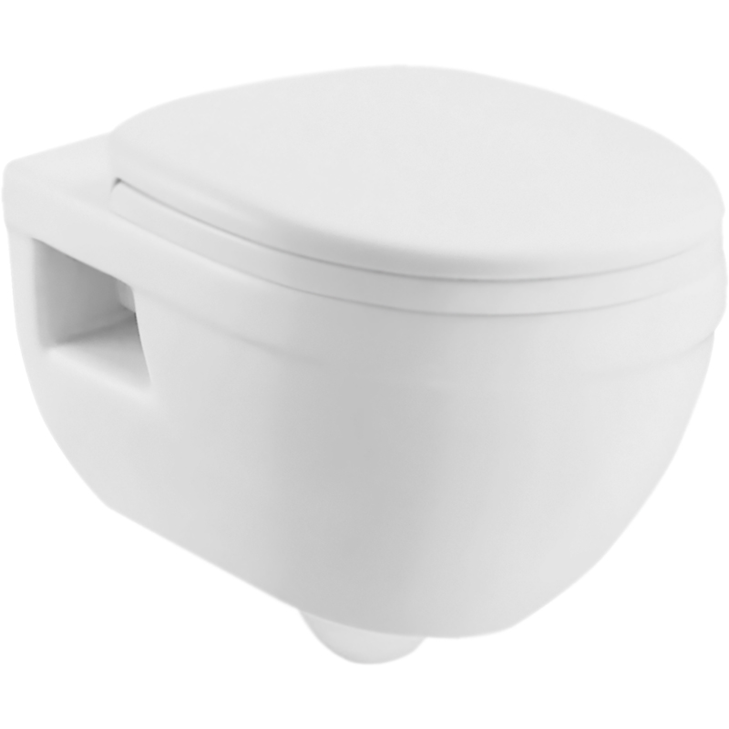 Cento BB1076CH подвесной без сиденьяУнитазы<br>Унитаз BelBagno Cento BB1076CH подвесной.<br>Дизайн с округлыми, мягкими, изящными линиями, гармонично впишется в различные интерьеры ванных комнат.<br>Материал: санфаянс.<br>Цвет: белый.<br>Особенности:<br>Слив по всему периметру чаши.<br>Межосевое расстояние под крепежные шпильки 180 мм.<br>