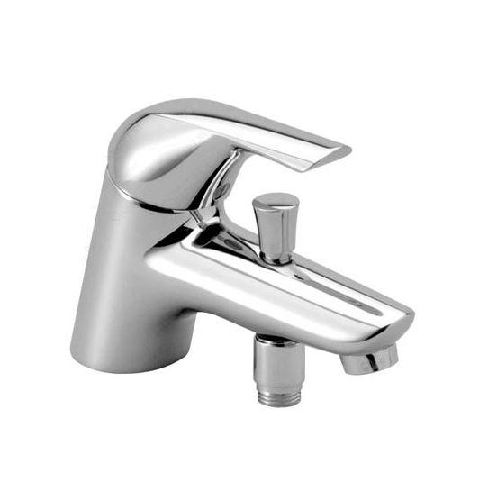 """Ceraplan New B4101AA ХромСмесители<br>Смеситель Ideal Standard Ceraplan New B4101AA для ванны под 1 отверстие. Система монтажа EASY-FIX, гибкая подводка G3/8"""". В комплекте: картридж 47 мм IS CLICK с функцией HWTC (ограничение горячей воды), металлическая рукоятка с индикаторами горячей/холодной воды, аэратор CASCADE M24x1, встроенный обратный клапан. Душевой гарнитур и остальные комплектующие приобретаются отдельно.<br>"""