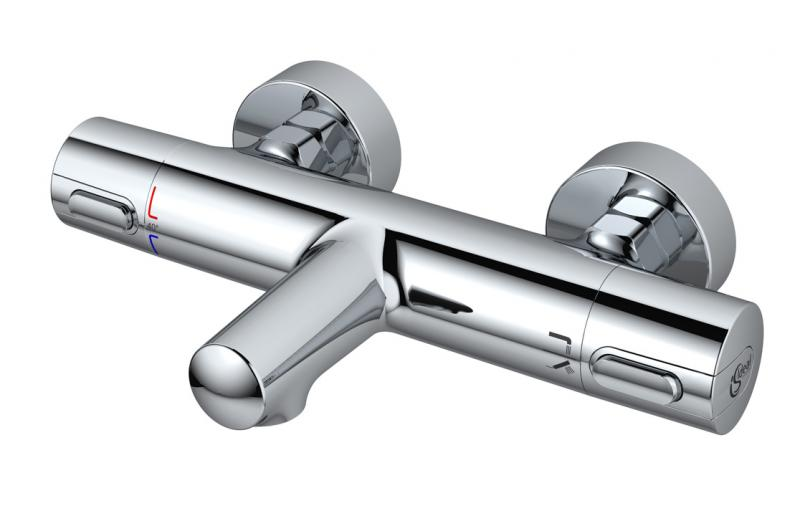 Ceratherm 100 A4623AA ХромСмесители<br>Смеситель Ideal Standard Ceratherm 100 A4623AA дл ванны и душа. Монтаж смесител осуществлетс за счет гибкой подводки 1/2.<br>