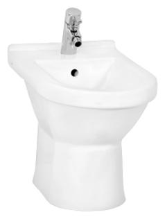 S50 5305B003-0068 напольное БелоеБиде<br>Биде Vitra S50 5305B003-0068 напольное.<br>Современный дизайн изделия прекрасно впишется в интерьер любой ванной комнаты.<br>Материал: санфарфор толщиной 18 мм, не впитывающий грязь.<br>Одно отверстие под смеситель.<br>Слив-перелив.<br>