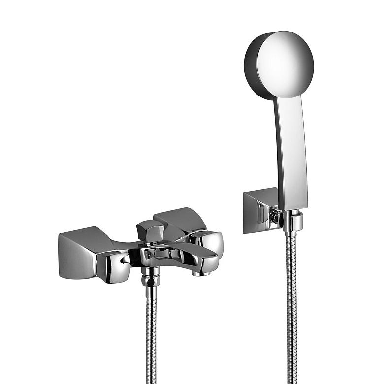 Square 25.133.910.00 С душевым комплектомСмесители<br>Смеситель для ванны Dornbracht Square 25.133.910.00. Ручной душ, шланг 1250 мм и держатель в комплекте. Все дополнительные комплектующие приобретаются отдельно.<br>