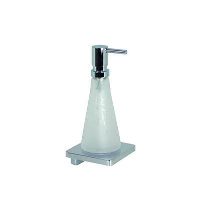 LaFleur 83.430.955.00 ХромАксессуары для ванной<br>Дозатор для жидкого мыла Dornbracht LaFleur 83.430.955.00, настенный. Сосуд из хрусталя, матовый.<br>