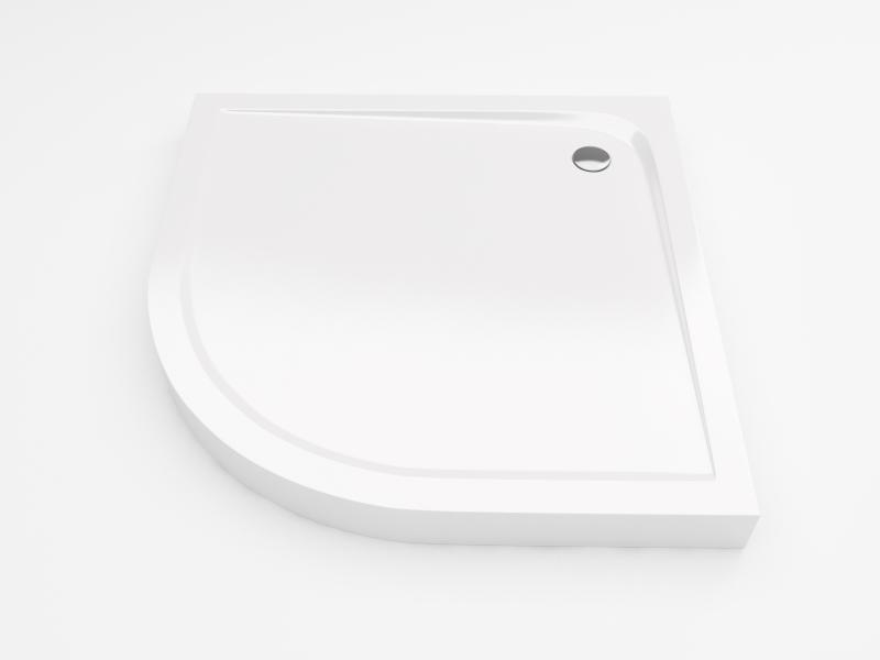 Sense Compact 90 Полукруглый, высокийДушевые поддоны<br>Поддон акриловый полукруглый Excellent Sense Compact. В комплекте с экраном и ножками. Цвет белый.<br>
