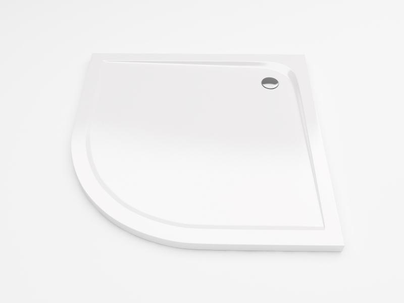 Sense Compact 100 Полукруглый, высокийДушевые поддоны<br>Высокий душевой акриловый поддон EXCELLENT Sense Compact 100x100 см. В комплекте с экраном и ножками. Цвет белый.<br>