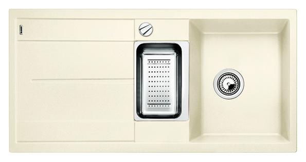 Metra 6 S 513047 жасминКухонные мойки<br>Кухонная мойка Blanco Metra 6 S 513047 врезная, 2 чаши с крылом. Очень просторная основная чаша для мытья посуды больших размеров и просторная дополнительная чаша для оптимального комфорта. Для установки в шкаф шириной от 60 см. Возможна установка под столешницу. Нужно учитывать ширину пристеночного канта в случае установки мойки возле стены или пенала.<br>