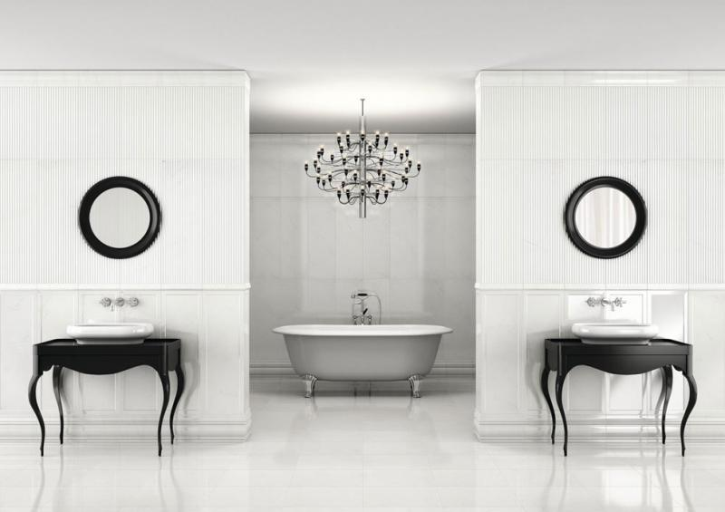 Carrara Suite Frame Blanco 30х90 настеннаяКерамическая плитка<br>Керамическая плитка Roca Carrara Suite Frame Blanco 30х90. В упаковке 4 шт. (1,08 м2).<br>