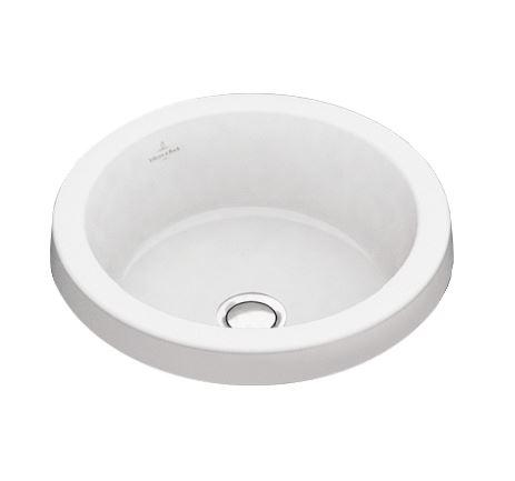 Architectura 41654101 Белый альпин CeramicPlusРаковины<br>Раковина Villeroy&amp;Boch Architectura 416541R1 встраиваемая, без перелива. Цвет - белый альпин CeramicPlus.<br>