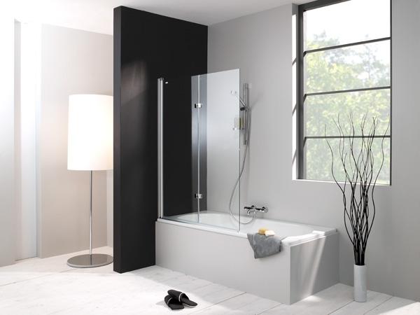 Design pure 512401.092.322 Профиль хром, прозрачное стеклоДушевые ограждения<br>Шторка из стекла для ванны однопанельная HUPPE Design Pure. Безопасное закаленное стекло 6 мм.<br>