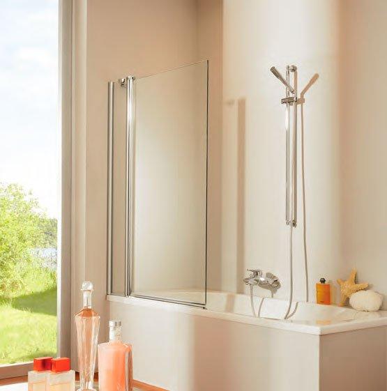 Design pure 512401.087.321 501 Профиль матовое серебро, прозрачное стеклоДушевые ограждения<br>Шторка для ванной DESIGN PURE  с профилем матовое серебро и прозрачным стеклом<br>
