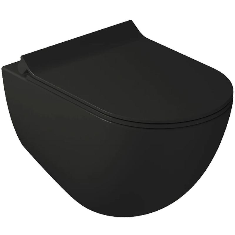 Унитаз Galassia Dream 7317NEMT подвесной Черный матовый без сиденья