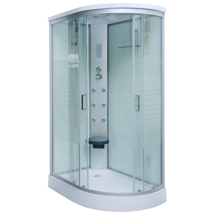 811 LДушевые кабины<br>Luxus 811 душевая кабина. Комплектация: система сборки профиля Еasymade, верхний душ, ручной душ, сенсорный пульт управления, сиденье откидное ABS-пластик, <br>вешалка для полотенец, вентиляция, полочка для шампуня, двойные ролики.<br>