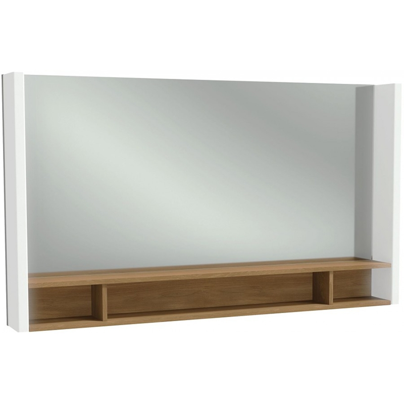 Фото - Зеркало Jacob Delafon Terrace 120 EB1183-NF с подсветкой Белое Древесное с сенсорным выключателем зеркало jacob delafon terrace eb1182 nf