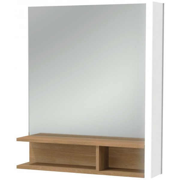 Фото - Зеркало Jacob Delafon Terrace 60 R EB1180D-NF с подсветкой Белое Древесное с сенсорным выключателем зеркало jacob delafon terrace eb1182 nf