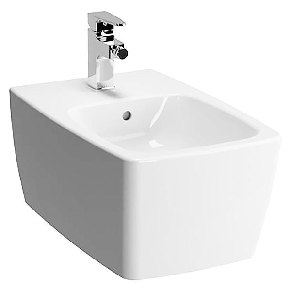 Metropole 5675B003-0288 подвесное БелыйБиде<br>Биде Vitra Metropole 5675B003-0288 подвесное.<br>Современный дизайн изделия прекрасно впишется в интерьер любой ванной комнаты.<br>Материал: санфарфор толщиной 18 мм, не впитывающий грязь.<br>Одно отверстие под смеситель.<br>Слив-перелив.<br>