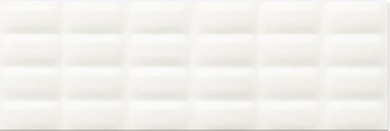 Керамическая плитка Meissen Pret a Porte White Glossy Pillow Structure O-WHM-WTU052 настенная 25х75 см