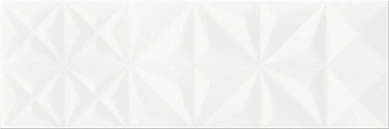 Керамическая плитка Meissen Pret a Porte White Glossy Squares Structure O-WHM-WTU051 настенная 25х75 см
