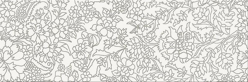Керамический декор Meissen Pret a Porte White Iserto Flower O-PRP-WIU051 25х75 см